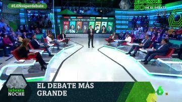 Minuto final en el debate a ocho de laSexta Noche