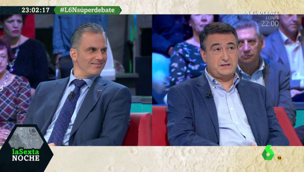 Cruce de acusaciones entre Ortega Smith (Vox) y Aitor Esteban (PNV) después de negarle el saludo a Espinosa de los Monteros