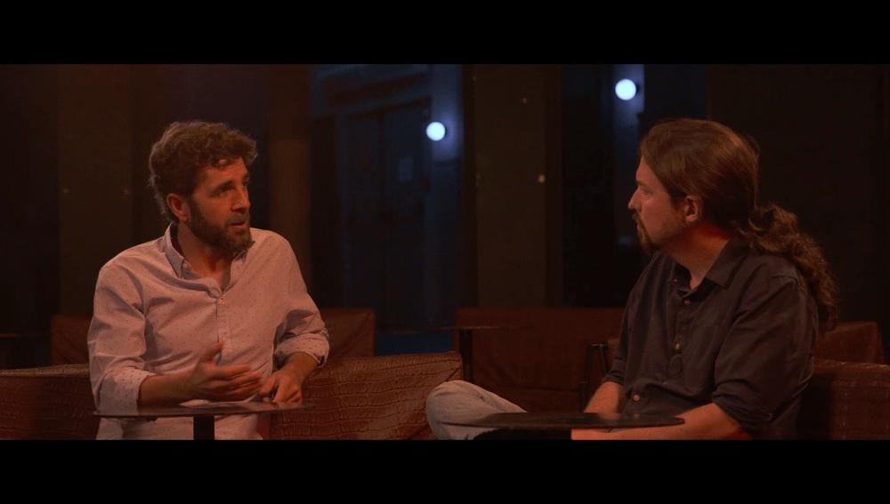 Gonzo y Pablo Iglesias en Salvados