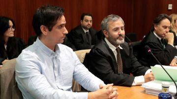 Rodrigo Lanza, durante el juicio