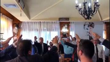 Comida celebrada en Casa Pepe por el 'Día del caudillo'