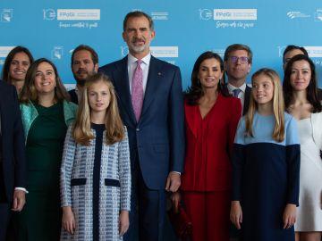El Rey junto a la Princesa Leonor en los Premios Princesa de Girona