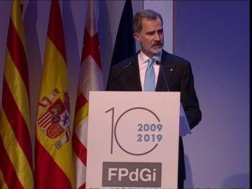 """Felipe VI apela a una Cataluña """"orgullosa de sus señas de identidad, plural e integradora"""""""