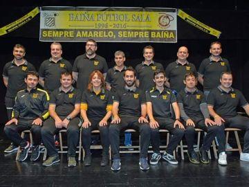 El equipo de fútbol sala gallego Baíña
