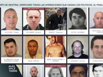 Esta es la lista de los 44 delincuentes más buscados por la Europol
