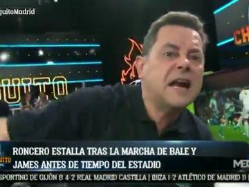 Tomás Roncero explota contra Bale y James por irse del Santiago Bernabéu antes del final del partido