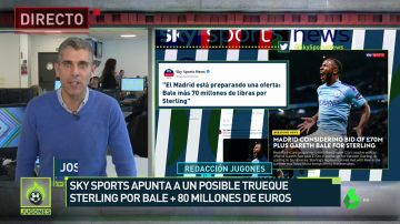 El entorno de Bale y el Madrid desmienten un trueque por Sterling