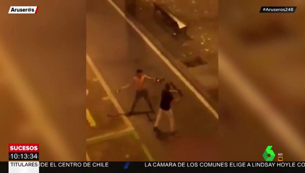 pelea botellazo barcelona