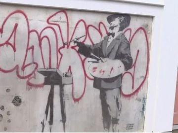 La obra de Banksy conocida como 'El Pintor'