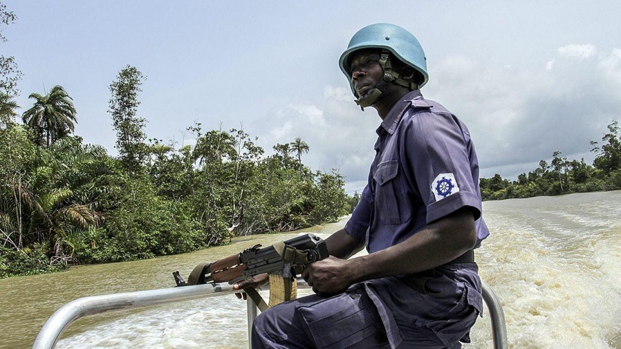 Imagen de la Policía nigeriana