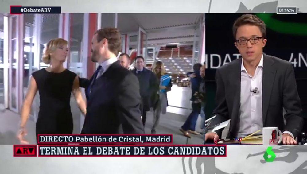 """Íñigo Errejón, tras el debate a cinco: """"La oportunidad perdida por las fuerzas progresitas ha dejado una autopista a Abascal"""""""