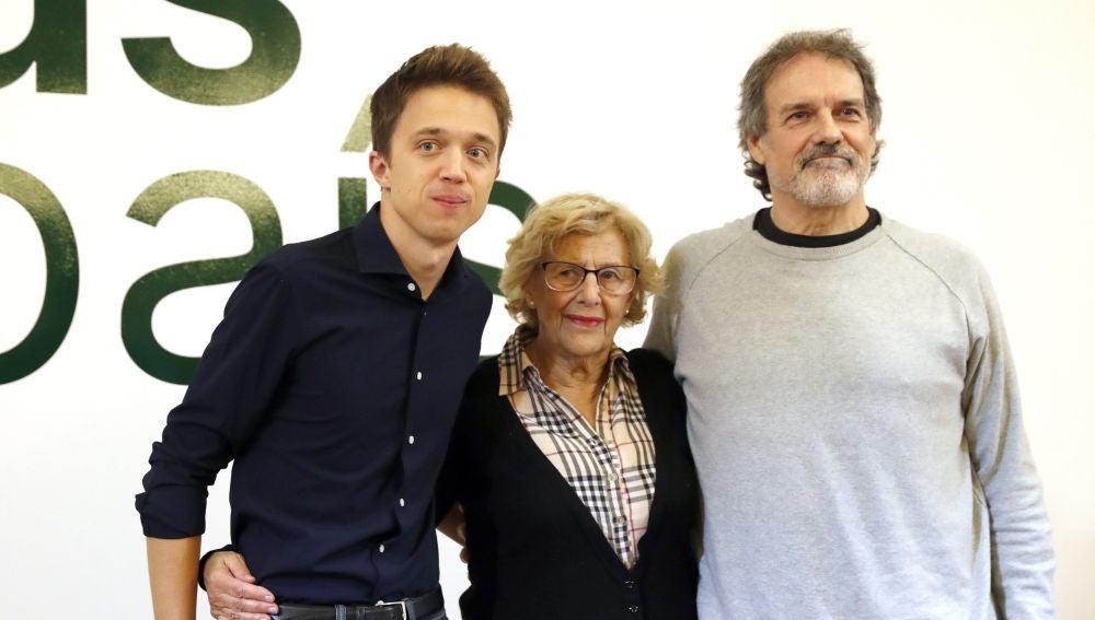 """Íñigo Errejón, en un acto acompañado por Manuela Carmena: """"El debate fue un bochorno de Eurovisión"""""""