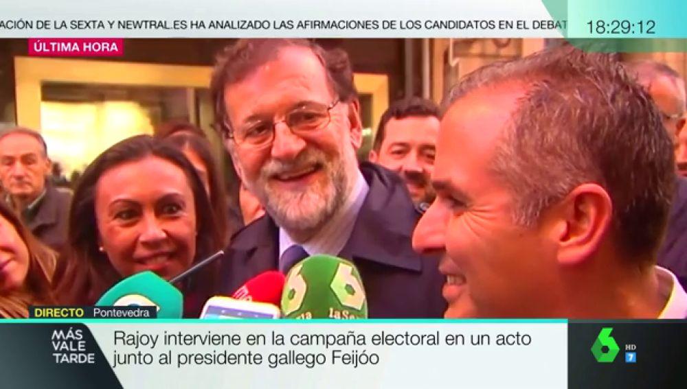 Rajoy reaparece en plena campaña electoral para acudir a un acto electoral de Núñez Feijóo