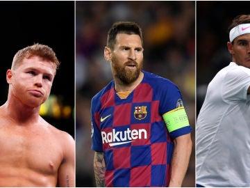 Canelo Álvarez, Messi y Nadal, tres de los 100 deportistas mejor pagados