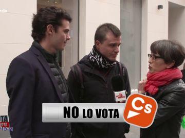 """Lo vota, no lo vota: """"Encontrar a alguien que no vote a Ciudadanos es muy fácil"""""""