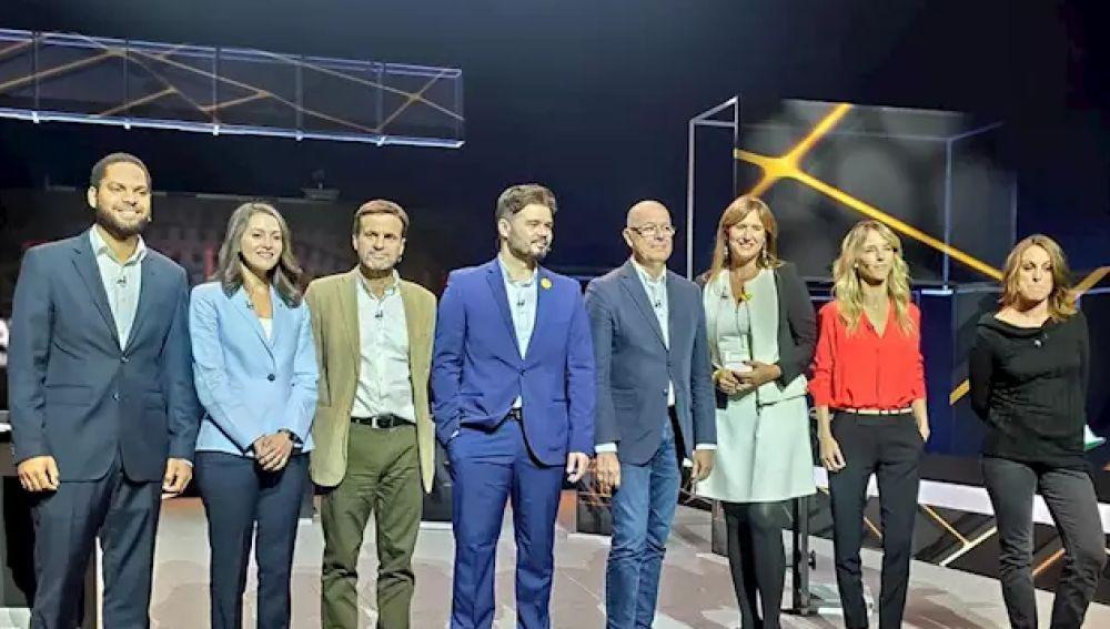 Los candidatos en el debate de TV3