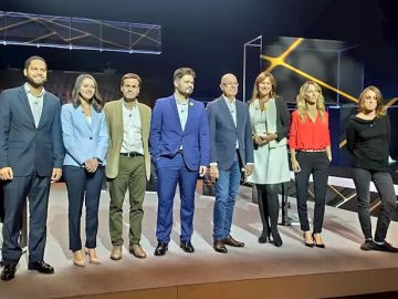 Los candidatos en el debate de TV3