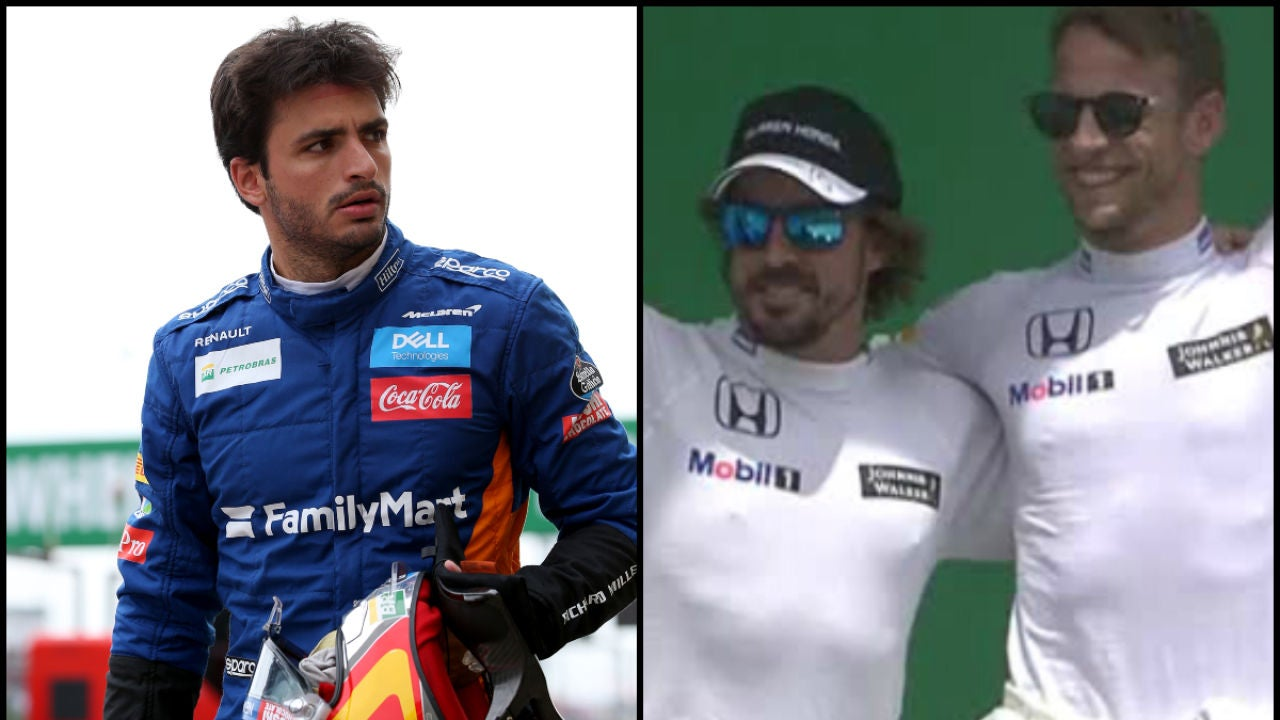Carlos Sainz, Fernando Alonso y Jenson Button