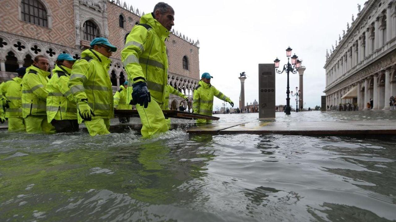 Imagen de las inundaciones en Venecia (Archivo)