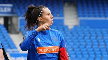 Maddi Torre entrena con la Real Sociedad