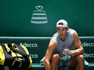 Rafa Nadal se prepara para la Copa Davis