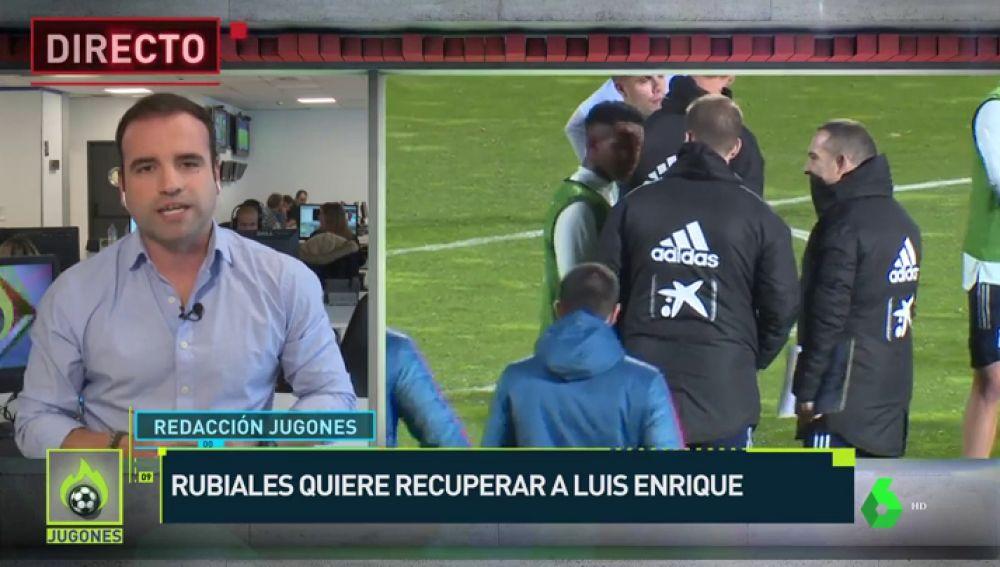 La información de Julio Suárez sobre Luis Enrique este mediodía en Jugones