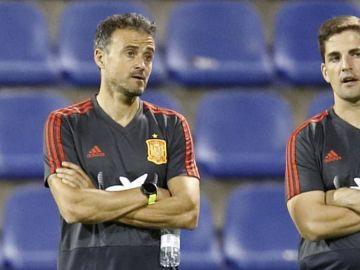 Robert Moreno y Luis Enrique, en la Selección