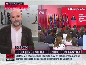 """Néstor Rego (BNG), sobre la investidura: """"No nos gustaría tener que votar 'no'"""""""