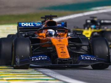 Carlos Sainz, durante el Gran Premio de Brasil.