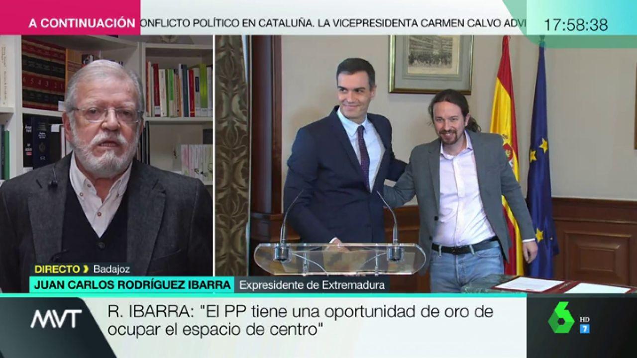 """Ibarra: """"Me gustaría que Pablo Iglesias dijera qué es Podemos. ¿Son comunistas? ¿Qué son?"""" - LaSexta"""
