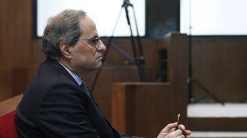 El presidente de la Generalitat, Quim Torra, en el Tribunal Superior de Justicia de Cataluña