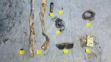 Objetos hallados en el pozo de Asados