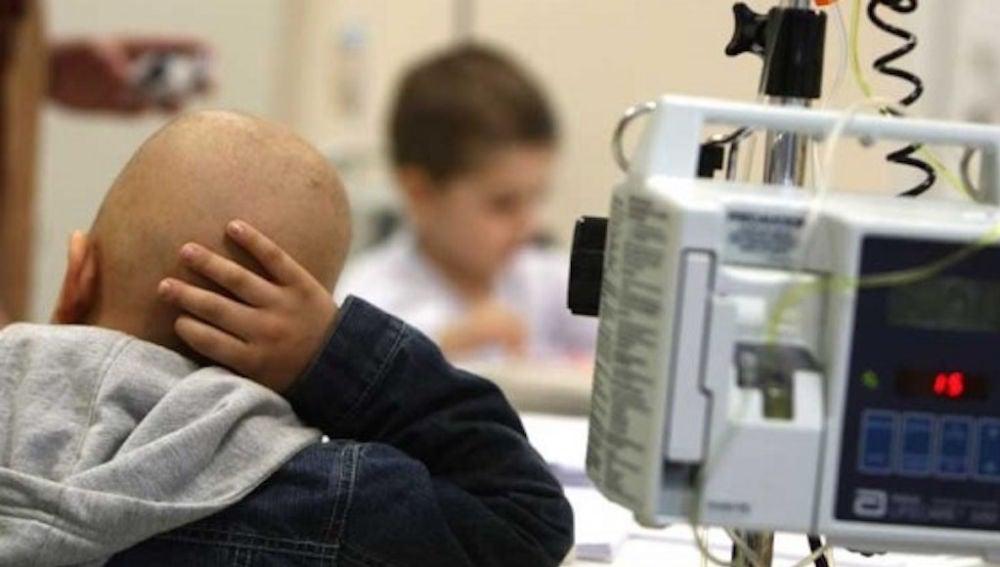 Imagen de un niño con cáncer