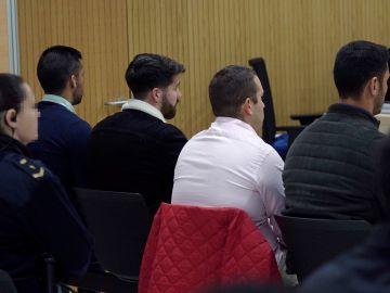 Los miembros de 'La Manada' en el juicio por el caso de Pozoblanco