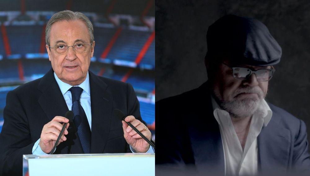 Florentino Pérez, presidente de ACS y Real Madrid, y el excomisario José Manuel Villarejo