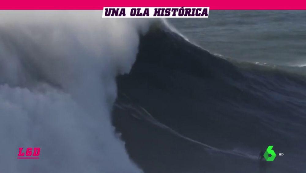Justine Dupont surfea la ola más grande jamás cabalgada por una mujer