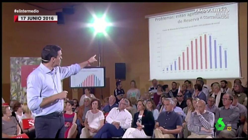 El vídeo que demuestra el interés de los políticos por la hucha de las pensiones: servir como arma contra sus adversarios