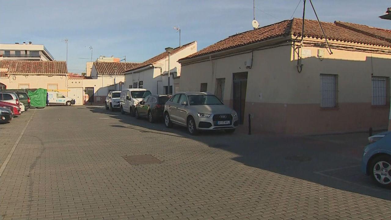 Lugar donde fue hallado el taxista degollado en Alcalá de Henares