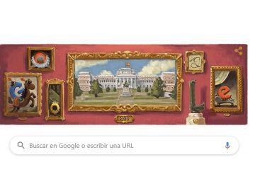 Doodle de Google para conmemorar el bicentenario del Museo del prado