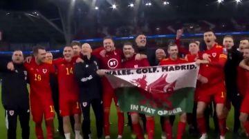 """Gareth Bale y la polémica bandera con el mensaje """"Gales. Golf. Madrid. En ese orden"""""""