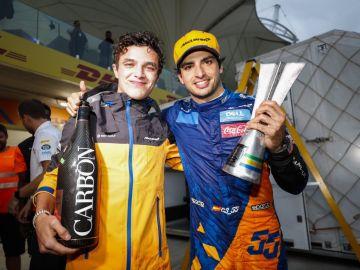 McLaren-podio Carlos Sainz en Brasil