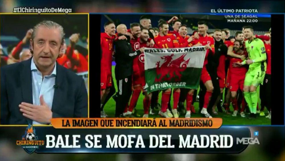 """Josep Pedrerol estalla contra Bale y su polémica pancarta: """"Florentino, échale"""""""