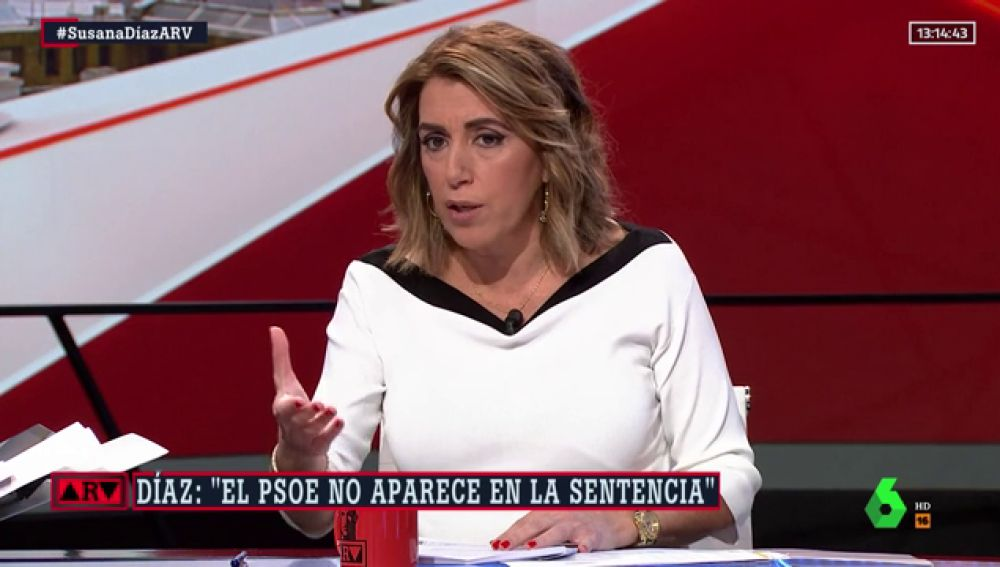 """Susana Díaz: """"No es verdad que nos hayamos retirado de la causa de los ERE"""""""