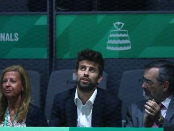Gerard Piqué, presenciando en directo su nueva Copa Davis