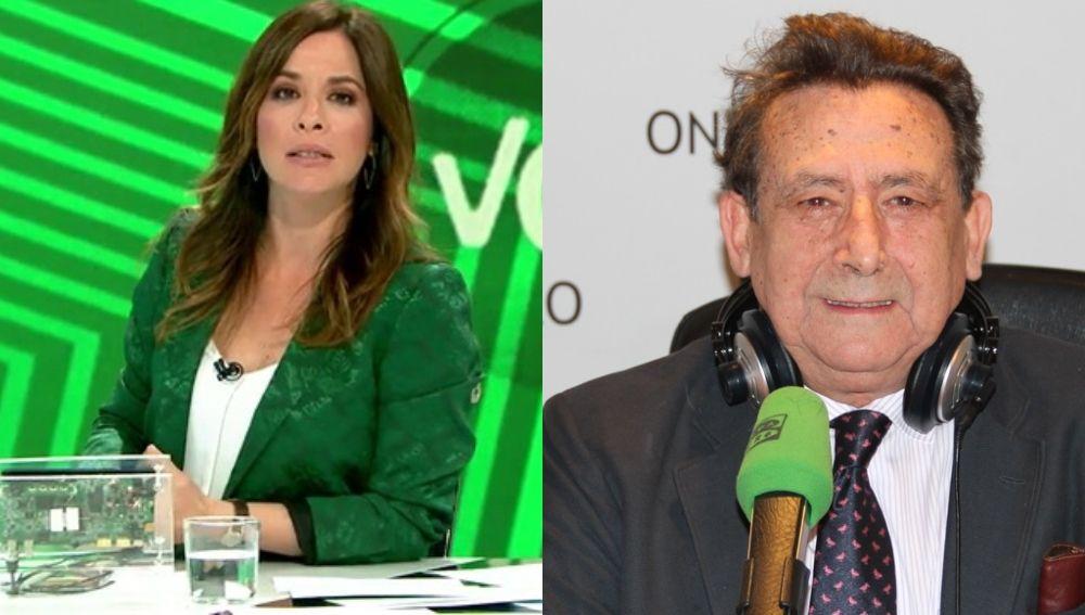 Mamen Mendizábal, presentadora de Más Vale Tarde, y Alfonso Ussía, columnista de La Razón