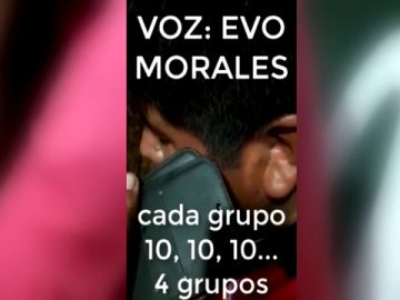 El gobierno interino de Bolivia difunde una grabación donde supuestamente Evo Morales anima al bloqueo de comida