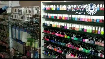"""La Policía localiza en Madrid un local que distribuía productos de manicura """"explosivos"""" y """"cancerígenos"""" sin licencia"""