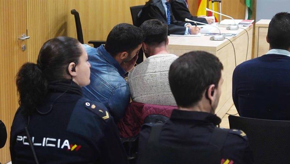 Miembros de la Manada durante el juicio por el abuso en Pozoblanco