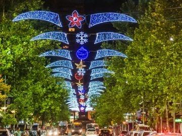 Luces de Navidad en Uruguay