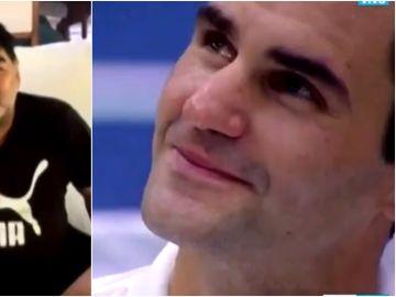 El mensaje de Maradona que emociona a Federer